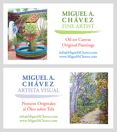 Bilingual Artist Business Cards Process - Linda Albertini Web Design