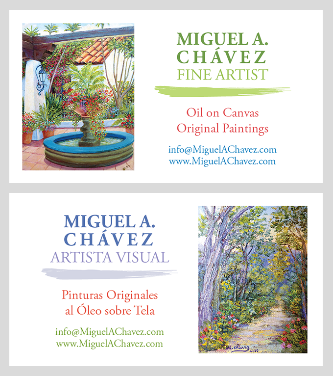 Bilingual Artist Business Cards - Linda Albertini Web Design