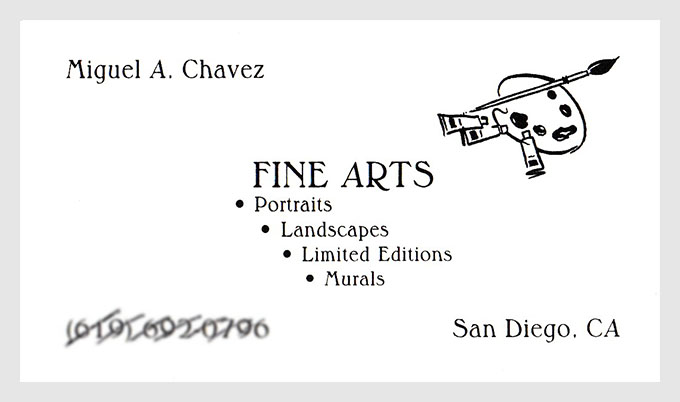 Artist Business Card, old - Linda Albertini Web Design