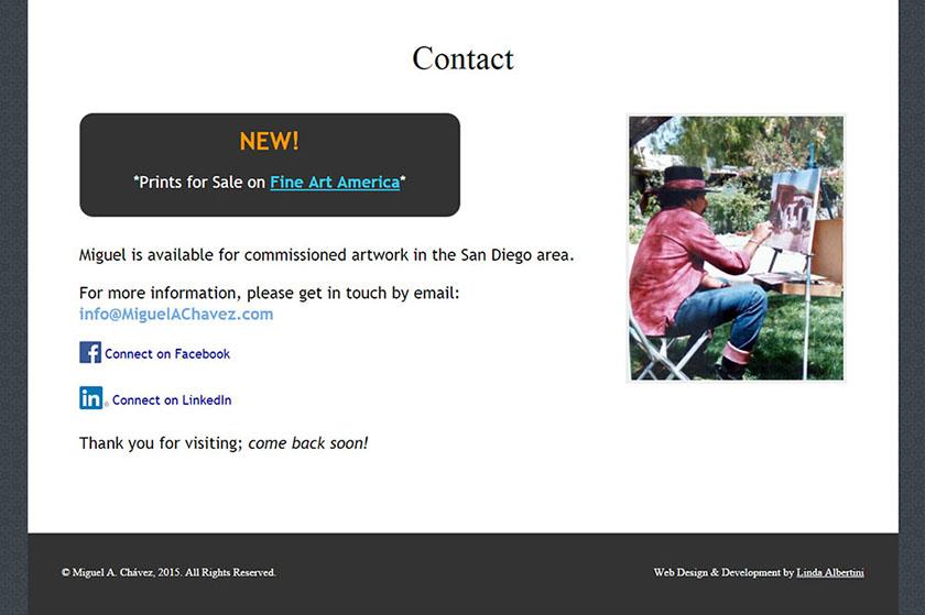 Bilingual Artist Website - Linda Albertini Web Design