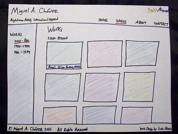 Bilingual Artist Website process - Linda Albertini Web Design