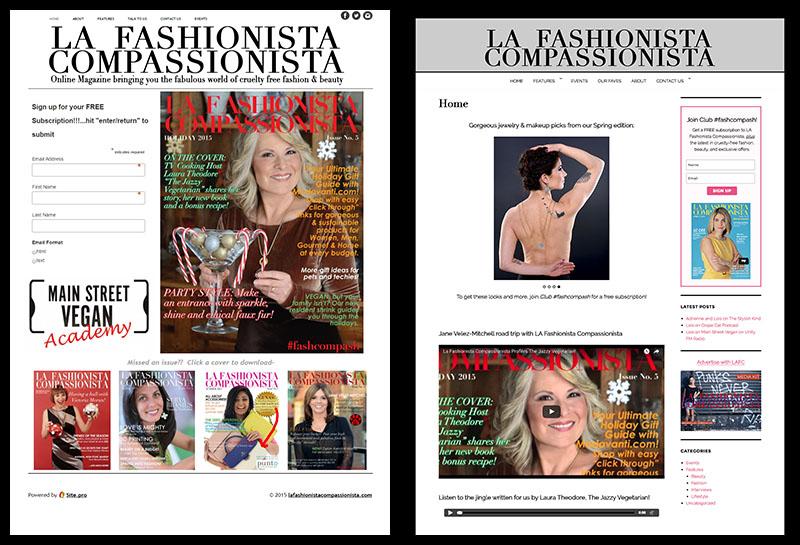 LAFC Website makeover - Linda Albertini Web Design
