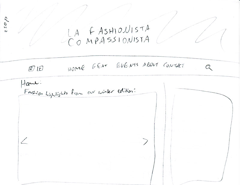LAFC website process - Linda Albertini Web Design