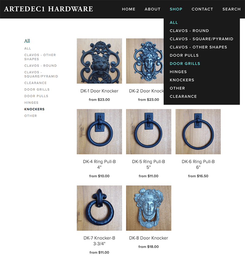 Artedec1 Hardware - Linda Albertini Web Design
