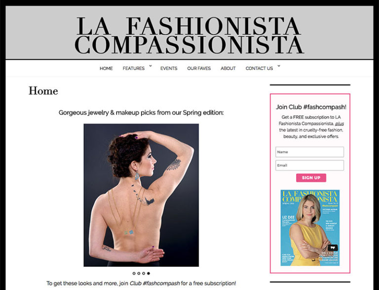Fashion Website Design - LAFC NYC | LindaAlbertini.com