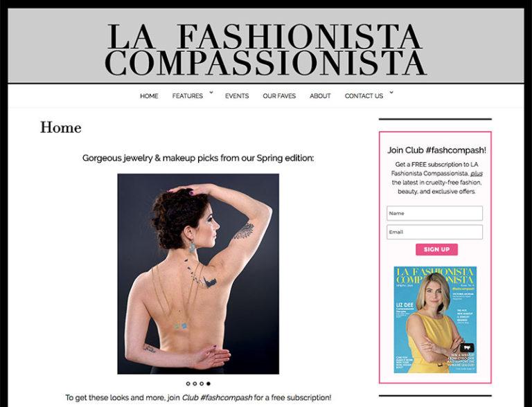 Fashion Website Design - LAFC NYC | LindaAlbertini.com